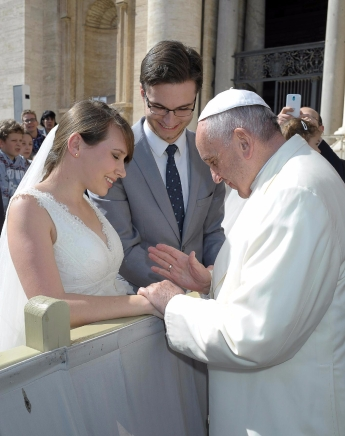 Meeting Pope Francis.